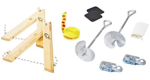 Slackline-Tools Frameline Set Kids - Slackline - 8 m jaune/rouge